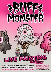 BUFF MONSTER-LIVE-PAINTING.FLYERrev
