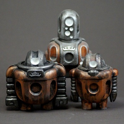 Renold Mk2, Renold Mk1 and Runcible Mk2 - Copper editions over the years
