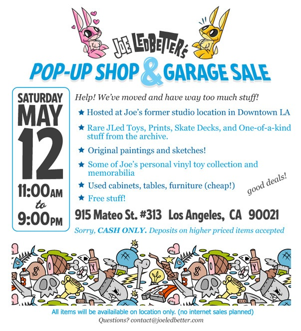 Rummage Sale Flyers http://www.vinylpulse.com/2012/05/joe-ledbetters-having-a-garage-sale-0512.html