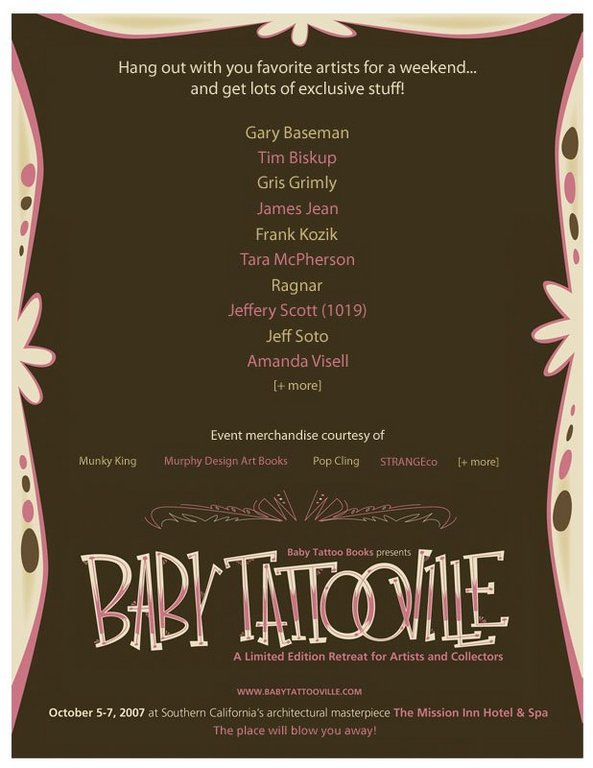 Organized by Baby Tattoo Books, Baby Tattooville offers collectors the rare
