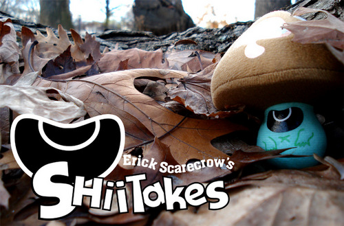 "shrooms wallpapers. Shrooms! Erick Scarecrow's plush Shiitakes stand 4"" high and have a clip-on"