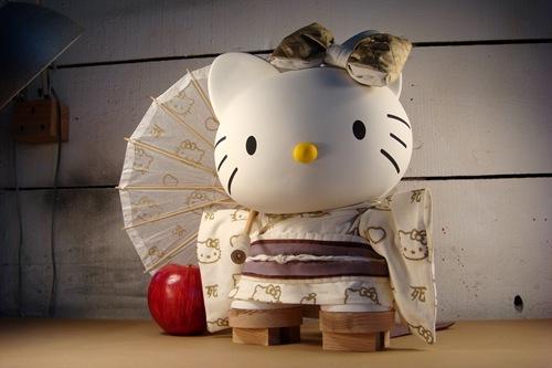 Hello Kitty Kimono Wallpaper For Sanrio's Three Apples Show