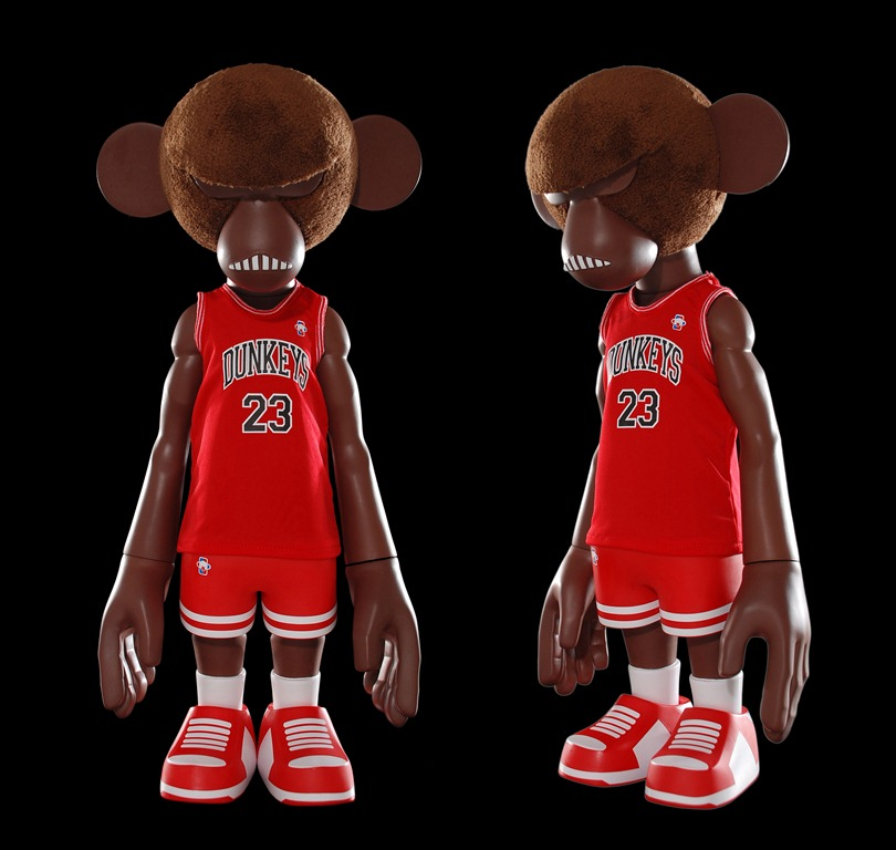 MINDstyle x CoolRain NBA Dunkey #3 Mono 5 inch Figure brown red
