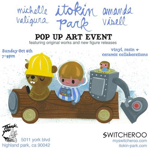 Vinyl Pulse Itokin Park X Switcheroo Oven Clay Workshop Pop Up Art Event