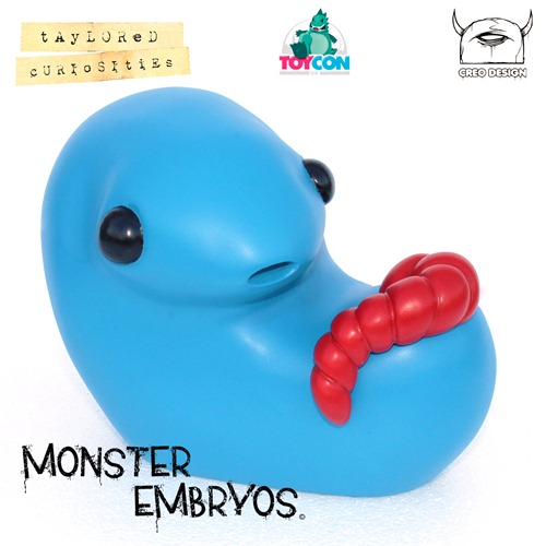 004-giant monster embryo taylored curiosities brilliant blue designer toy toycon uk 2