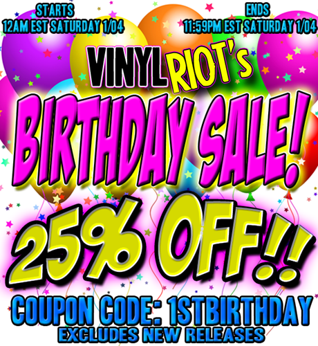 001-vinyl riot birthday sale